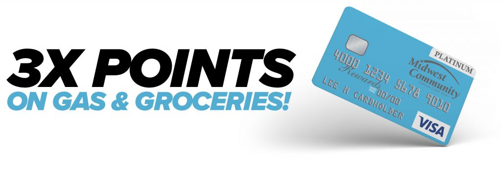 3X Points on Gas and Groceries | Midwest Community Federal Credit Union